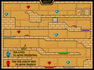 Онлайн игра Огонь и Вода 2: В Храме Света (Fireboy and Watergirl in The Light Temple) (изображение №3)