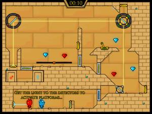 Онлайн игра Огонь и Вода 2: В Храме Света (Fireboy and Watergirl in The Light Temple) (изображение №2)