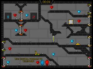 Онлайн игра Огонь и Вода 4: В Хрустальном храме (Fireboy and Watergirl in The Crystal Temple) (изображение №4)