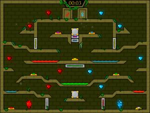 Онлайн игра Огонь и Вода 5: Пять элементов (Fireboy and Watergirl 5 Elements) (изображение №4)