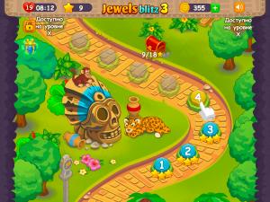 Онлайн игра Джевелс Блиц 3 (Jewels Blitz 3) (изображение №2)