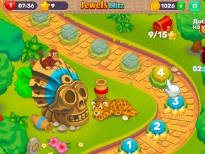 Онлайн игра Джевелс Блиц 4 (Jewels Blitz 4) (изображение №3)