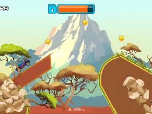 Онлайн игра Гонка на высокой горе (High Hills) (изображение №2)