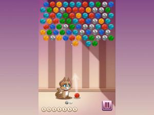 Онлайн игра Клубочки Китти (Kitty Bubbles) (изображение №2)