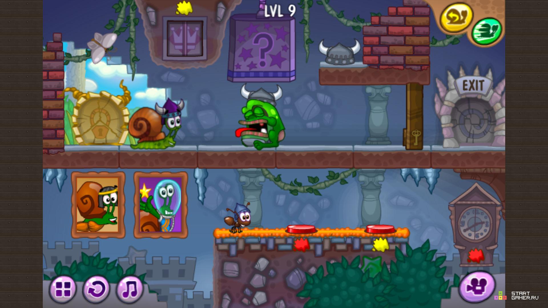 онлайн игра улитка боб 7 фантастическая история Snail Bob