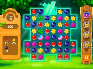 Онлайн игра Три в ряд в лесу (Forest Match) (изображение №2)