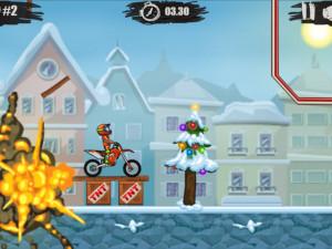 Онлайн игра Мото Х3М 4: Зима (Moto X3M 4: Winter) (изображение №10)