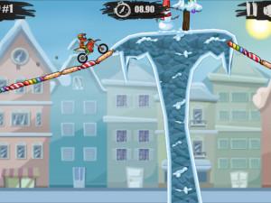 Онлайн игра Мото Х3М 4: Зима (Moto X3M 4: Winter) (изображение №9)