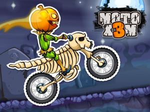 Онлайн игра Мото Х3М: Хэллоуин (Moto X3M: Spooky Land) (изображение №1)