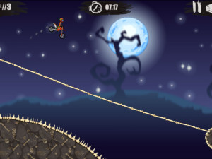 Онлайн игра Мото Х3М: Хэллоуин (Moto X3M: Spooky Land) (изображение №9)