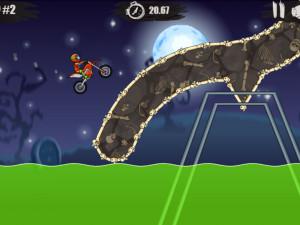 Онлайн игра Мото Х3М: Хэллоуин (Moto X3M: Spooky Land) (изображение №7)