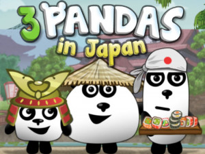 Онлайн игра 3 Панды в Японии (3 Pandas in Japan) (изображение №1)