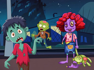 Забавные зомби: Пазлы