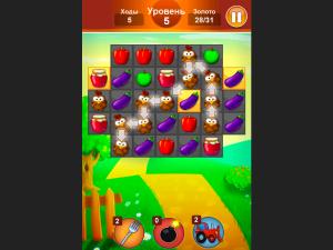 Онлайн игра Ферма: Соединяй в цепочку (Farm Jelly Puzzle) (изображение №6)