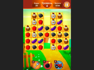 Онлайн игра Ферма: Соединяй в цепочку (Farm Jelly Puzzle) (изображение №4)