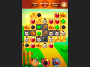 Онлайн игра Ферма: Соединяй в цепочку (Farm Jelly Puzzle) (изображение №3)