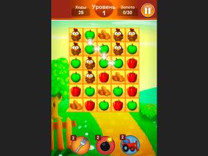 Онлайн игра Ферма: Соединяй в цепочку (Farm Jelly Puzzle) (изображение №2)