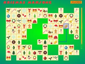 Онлайн игра Коннект: Рождественский Маджонг (Krismas Mahjong) (изображение №6)