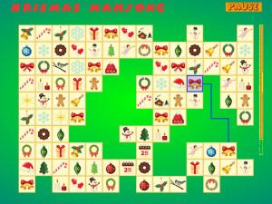Онлайн игра Коннект: Рождественский Маджонг (Krismas Mahjong) (изображение №2)