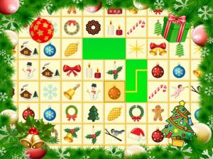 Онлайн игра Коннект: Рождественский Маджонг (Krismas Mahjong) (изображение №1)