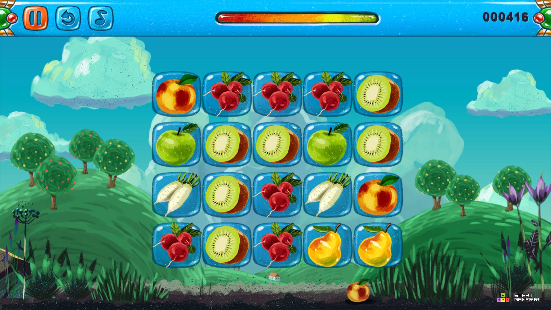Соединяем фрукты 2