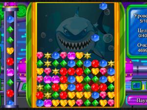 Онлайн игра Сокровища Глубокого Моря (Deep Sea Jewels) (изображение №5)