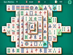 Онлайн игра Маджонг Пасьянс (Mahjongg Solitaire) (изображение №2)