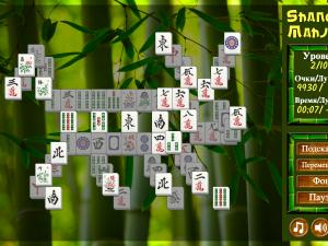 Онлайн игра Маджонг Шанхай (Mahjong Shanghai) (изображение №3)