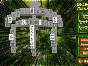 Онлайн игра Маджонг Шанхай (Mahjong Shanghai) (изображение №5)