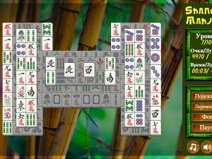 Онлайн игра Маджонг Шанхай (Mahjong Shanghai) (изображение №6)