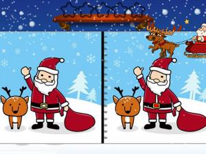Онлайн игра Найди Отличия: Рождество (Spot the Difference Christmas) (изображение №3)