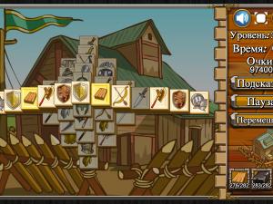Онлайн игра Маджонг: Замок (Castle Mahjong) (изображение №4)