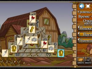 Онлайн игра Маджонг: Замок (Castle Mahjong) (изображение №3)