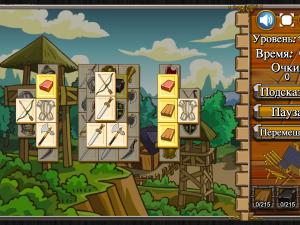 Онлайн игра Маджонг: Замок (Castle Mahjong) (изображение №2)