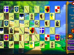 Онлайн игра Маджонг: Короли и Рыцари (Mahjong: Kings and Knights) (изображение №2)