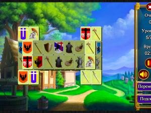 Онлайн игра Маджонг: Короли и Рыцари (Mahjong: Kings and Knights) (изображение №3)