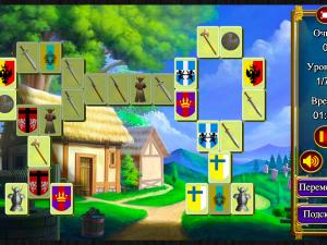 Онлайн игра Маджонг: Короли и Рыцари (Mahjong: Kings and Knights) (изображение №4)