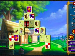Онлайн игра Маджонг: Короли и Рыцари (Mahjong: Kings and Knights) (изображение №5)