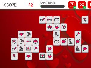 Онлайн игра Мадждонг Валентина (Mahjong Valentine's) (изображение №3)