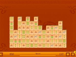 Онлайн игра Маджонг Коннект: 12 уровней (Mahjong Connect New) (изображение №2)