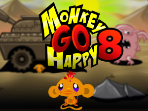 Онлайн игра Счастливая Обезьянка 8 (Monkey GO Happy 8) (изображение №1)