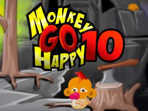 Онлайн игра Счастливая Обезьянка 10 (Monkey GO Happy 10) (изображение №1)