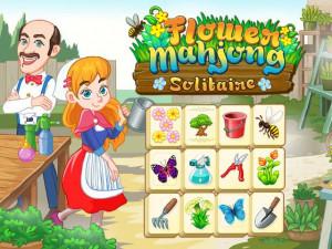 Онлайн игра Цветочный Маджонг Пасьянс  (Flower Mahjong Solitaire) (изображение №1)
