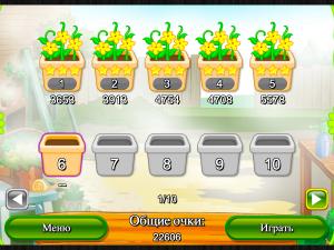 Онлайн игра Цветочный Маджонг Пасьянс  (Flower Mahjong Solitaire) (изображение №6)