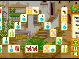 Онлайн игра Цветочный Маджонг Пасьянс  (Flower Mahjong Solitaire) (изображение №2)