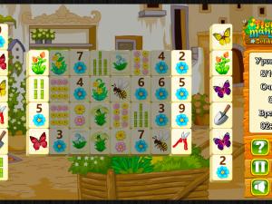 Онлайн игра Цветочный Маджонг Пасьянс  (Flower Mahjong Solitaire) (изображение №3)