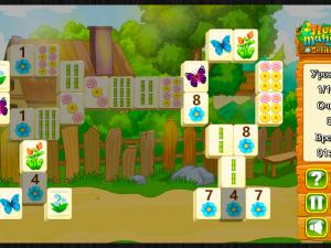 Онлайн игра Цветочный Маджонг Пасьянс  (Flower Mahjong Solitaire) (изображение №4)