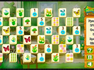 Онлайн игра Цветочный Маджонг Пасьянс  (Flower Mahjong Solitaire) (изображение №5)