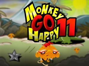 Онлайн игра Счастливая Обезьянка 11 (Monkey GO Happy 11) (изображение №1)