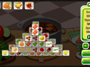 Онлайн игра Маджонг: Приготовление Еды (Cooking Mahjong) (изображение №2)